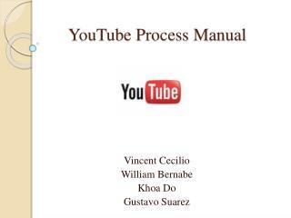 YouTube Process Manual