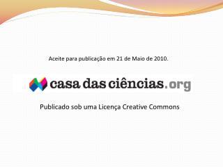 Aceite para publicação em 21 de Maio de 2010.