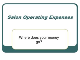 Salon Operating Expenses