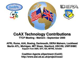 CoAX Technology Contributions TTCP Meeting - Malvern - September 2000