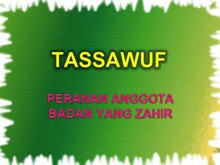 TASSAWUF