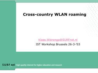 Cross-country WLAN roaming