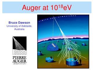 Auger at 10 18 eV