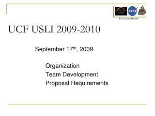 UCF USLI 2009-2010