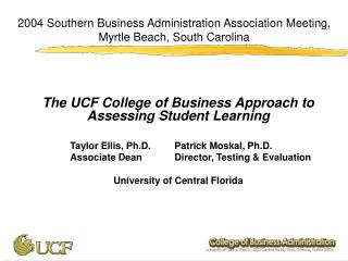 2004 Southern Business Administration Association Meeting, Myrtle Beach, South Carolina