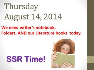 Thursday  August 14, 2014