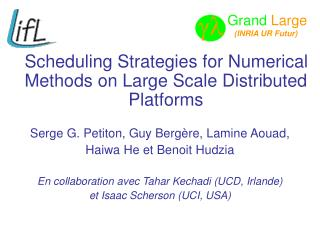 Scheduling Strategies for Numerical Methods on Large Scale Distributed Platforms