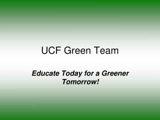 UCF Green Team