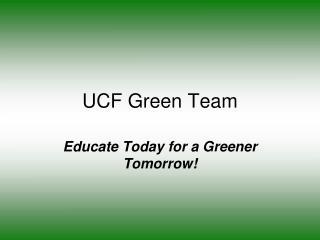 UCF Green Team