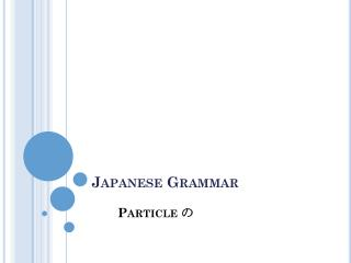Japanese Grammar