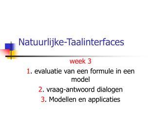 Natuurlijke-Taalinterfaces