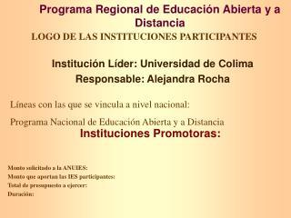 Programa Regional de Educación Abierta y a Distancia