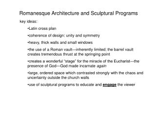 Romanesque Architecture and Sculptural Programs