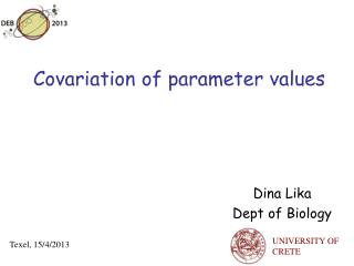 Covariation of parameter values