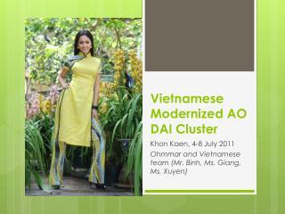 Vietnamese Modernized AO DAI Cluster