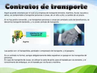 Contratos de transporte