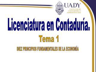 Licenciatura en Contaduría.