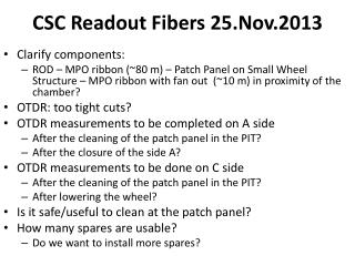 CSC Readout Fibers  25.Nov.2013