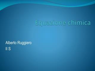 Equazione chimica
