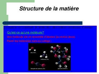 Structure de la matière