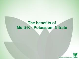 The benefits of  Multi-K - Potassium Nitrate