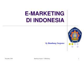E-MARKETING  DI INDONESIA