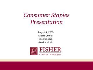 Consumer Staples Presentation