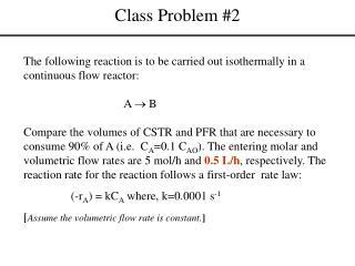 Class Problem #2
