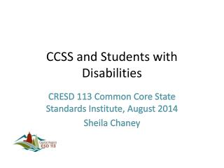 CCSS and Students with Disabilities