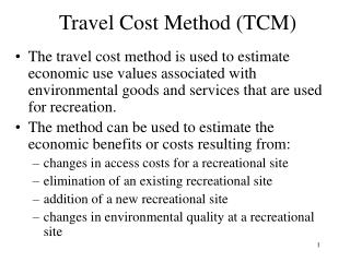 Travel Cost Method TCM