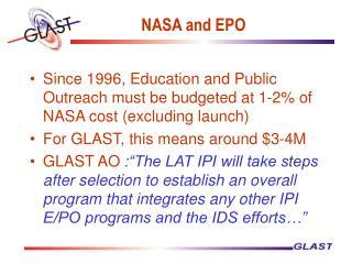 NASA and EPO