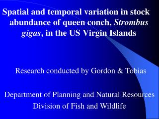 Department of Planning and Natural Resources Division of Fish and Wildlife