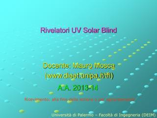 Rivelatori UV Solar Blind