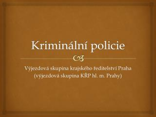 Kriminální policie