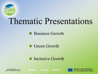 Thematic Presentations