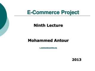 E-Commerce Project