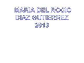 MARIA DEL ROCIO DIAZ GUTIERREZ 2013