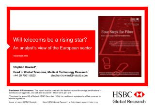 Will telecoms be a rising star? An analyst's view of the European sector