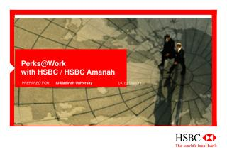 Perks@Work with  HSBC /  HSBC  Amanah