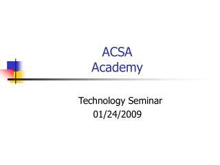 ACSA Academy