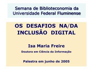 Semana de Biblioteconomia da Universidade Federal Fluminense