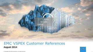 EMC VSPEX Customer References