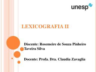 LEXICOGRAFIA II