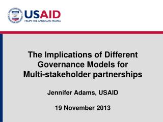 Key Components Of Multi-stakeholder Partnerships