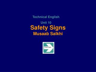 Safety Signs Musaab Salkhi