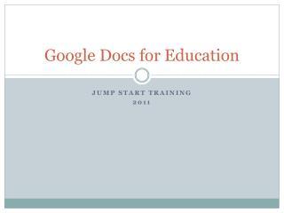 Google Docs for Education