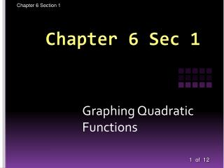 Chapter 6 Sec 1