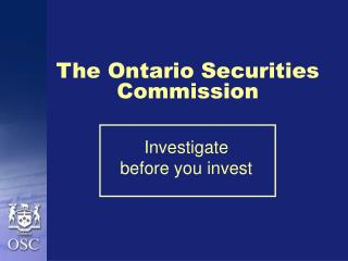 The Ontario Securities Commission