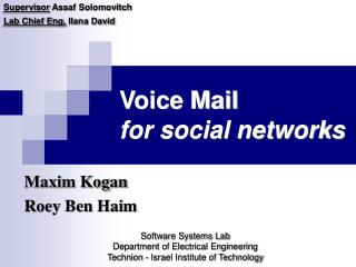 Voice Mail  for social networks