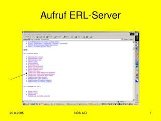 Aufruf ERL-Server